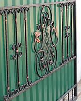 Ворота кованные с калиткой ВК-08