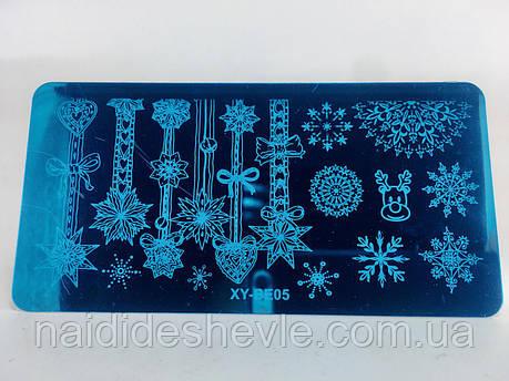 Диск для стемпинга металевий - новорічний, мікс, фото 2