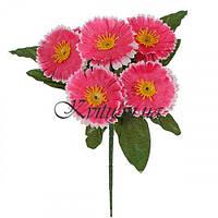 Искусственные цветы букет заливка маргаритка, 23см