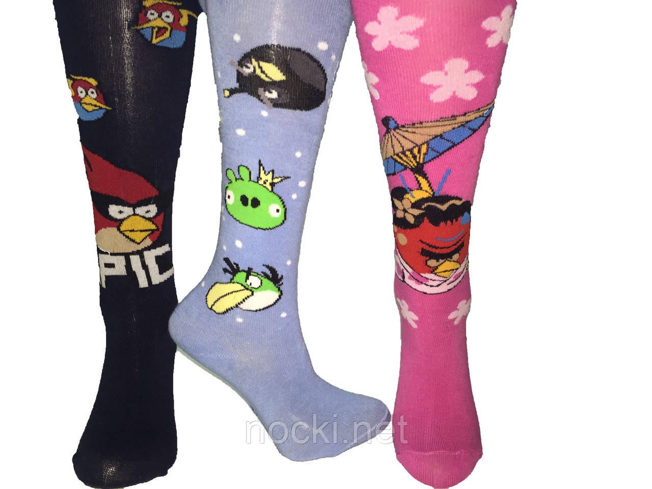 "Колготки детские хлопок Шугуан ""Angry Birds"" рост 92-98"