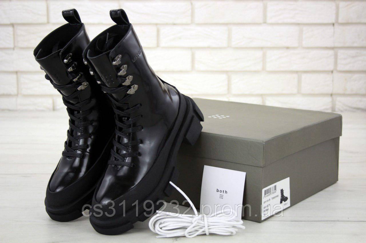 Женские зимние ботинки Both (мех)(черные)