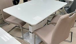 Стол обеденный белый в стиле модерн Montana (Монтана) DT-115  Evrodim