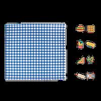 """Упаковочная бумага Голубая клетка """"Гамбургер"""" 320х320мм (ВхШ) 40г/м² 500шт (1879)"""