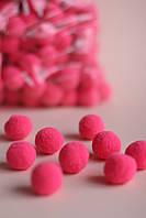 Помпони для одягу та головних уборів рожеві 25мм
