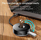 USB хаб BASEUS 1*USB 3.0 + 3*USB 2.0 / кабель 1 метр/ USB концентратор Baseus, фото 8