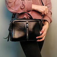 "Женская кожаная сумка ""Касандра Black"", фото 1"