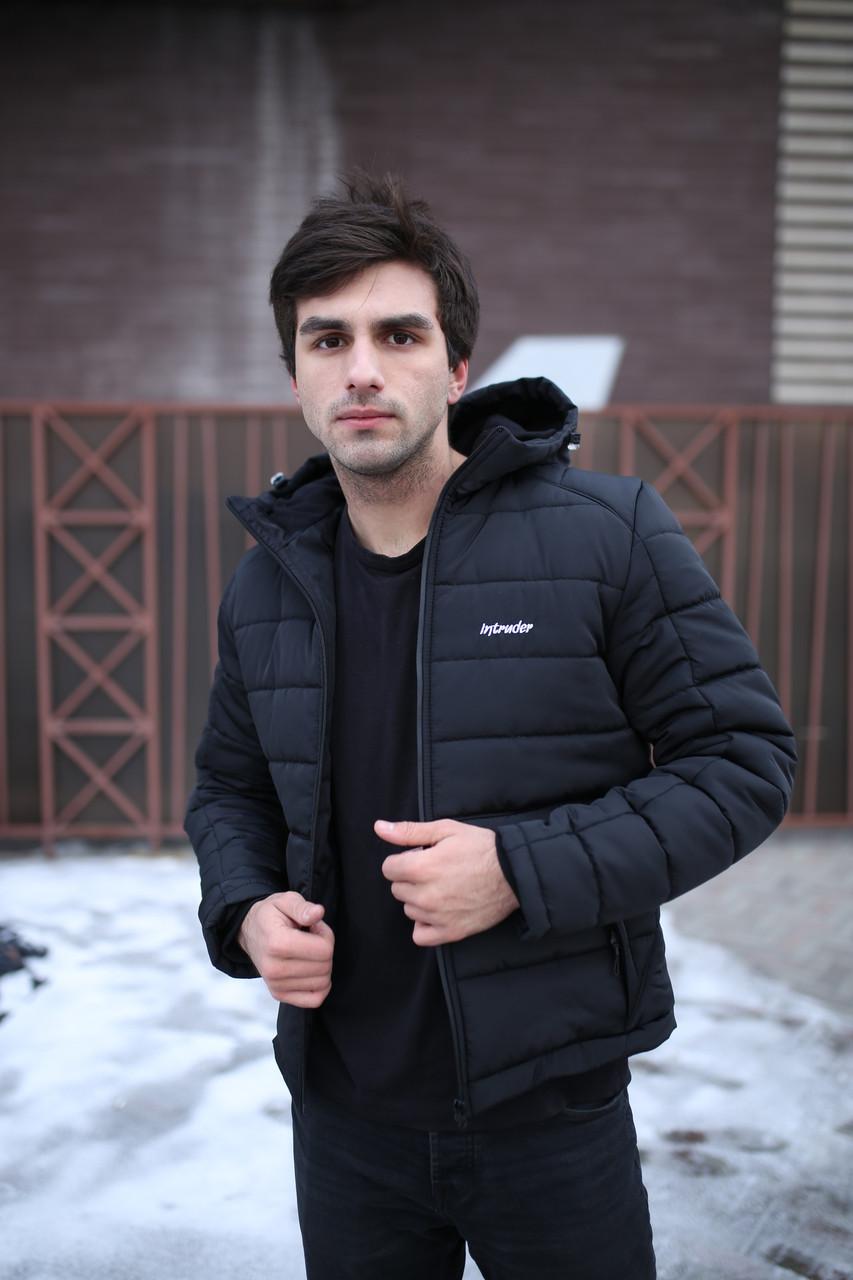"Зимова Куртка Intruder чорна ""Impression"""