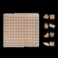 """Упаковочная Бумага  Коричневая клетка """"Гамбургер"""" 300х320мм (ВхШ) 40г/м² 500шт (1859)"""