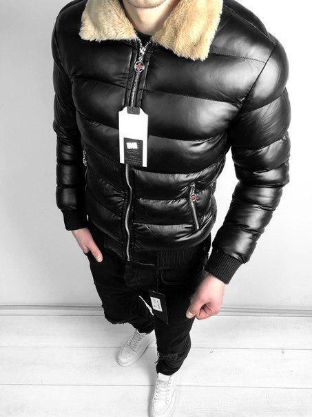 Мужская черная зимняя куртка, до -15 (две модели)