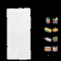 Бумажный пакет Уголок Белый жиростойкий 200х85мм (ВхШ) 40г/м² 500шт (1835)