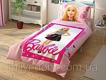 Детское подростковое постельное белье TAC Disney Barbie Cek Барби Ранфорс