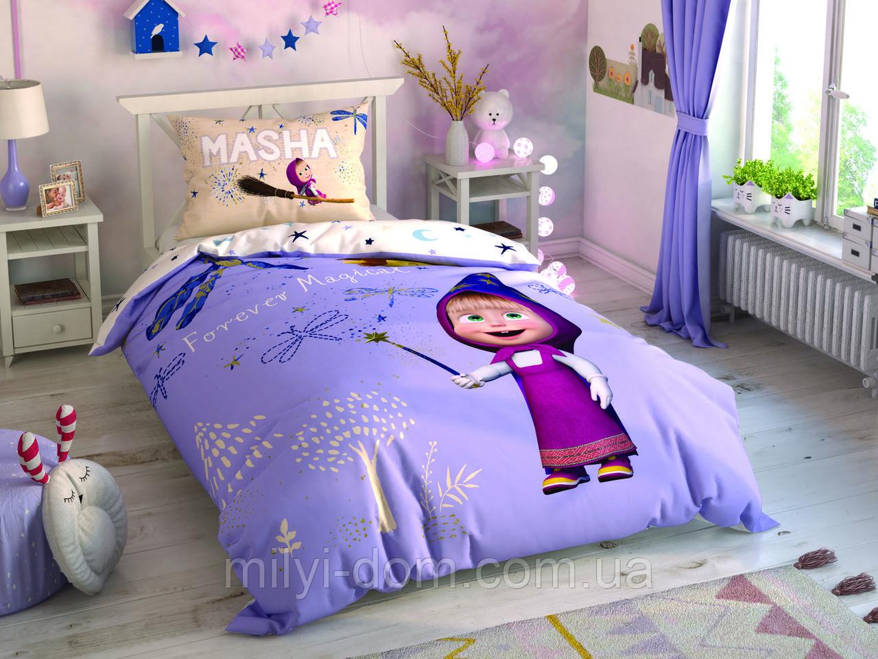 Набор детского постельного белья TAC Маша и Медведь Masha and Bear Magical Ранфорс