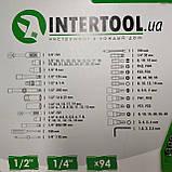 Набір ключів, головок INTERTOOL 94 одиниці, фото 6