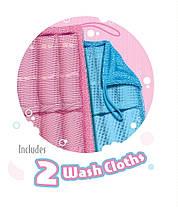2 полотенца Loofa Cloth For Body Wash | мочалка для бани | набор полотенец, фото 2