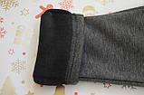 Детские брюки-джеггинсы для девочки *Мех* (Цвет: антрацит, размер 98,110,116), фото 2