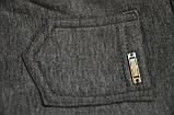 Детские брюки-джеггинсы для девочки *Мех* (Цвет: антрацит, размер 98,110,116), фото 3