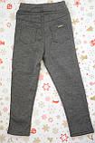 Детские брюки-джеггинсы для девочки *Мех* (Цвет: антрацит, размер 98,110,116), фото 4