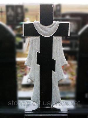 Крест на могилу гранитный. Изготовление памятников, надгробий.Установка, фото