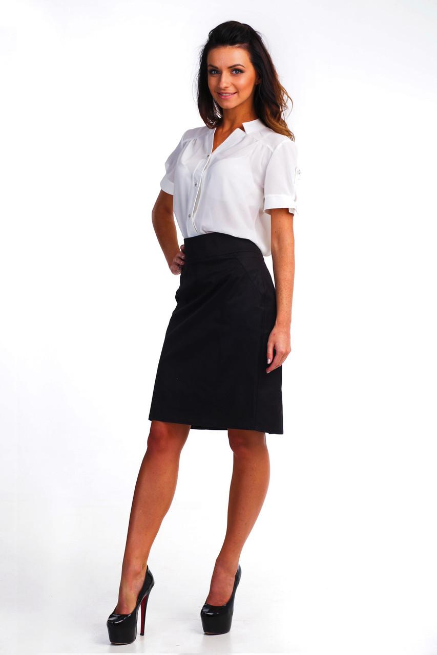 Классическая черная юбка-карандаш