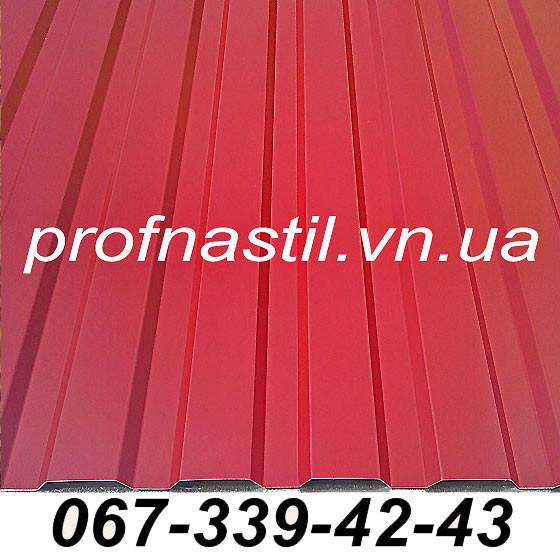 Профнастил красный ПС-12 RAL 3011 Винница - Декорлюкс в Виннице