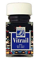 Витражная краска Vitrail #025 Blue (Синий) на сольвентной основе, 50 мл Lefranc & Bourgeois