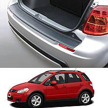 Пластикова захисна накладка на задній бампер для Suzuki SX4 2006-2014