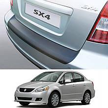 Пластикова захисна накладка на задній бампер для Suzuki SX4 sedan 2006-2014