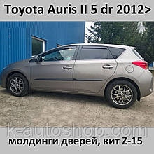 Молдинги на двері для Toyota Auris II 2012-2015, lift 2015+