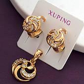 Женский комплект украшений из медицинского золота