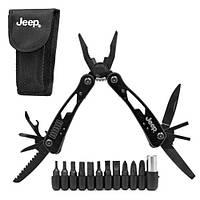Мультитул инструмент с насадками Jeep R26597 ((плоскогубцы, отвертка, кусачки, нож))