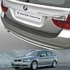 Пластиковая защитная накладка на задний бампер для BMW 3-series E91 Touring 2005-2008