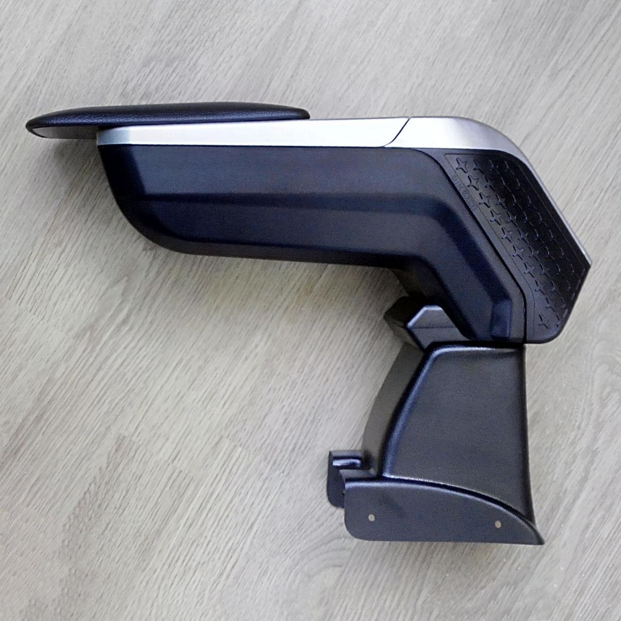 Подлокотник Armcik S4 со сдвижной крышкой и регул.наклоном Dacia Logan, MCV, Sandero 2005-2012, lift 2012-2017