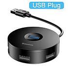 USB хаб BASEUS 1*USB 3.0 + 3*USB 2.0 / кабель 1 метр/ USB концентратор Baseus, фото 7