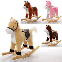 Музыкальная лошадка — качалка для ребенка 73 х 63 х 34 см