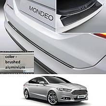 Пластиковая защитная накладка на задний бампер для Ford Mondeo Mk5 4/5dr 2014+