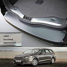Пластиковая защитная накладка на задний бампер для Ford Mondeo Mk5 Turnier 2014+