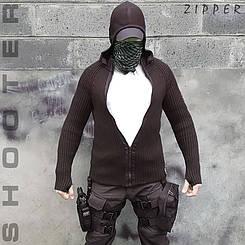 """Светр з капюшоном """"СТРІЛОК"""" ZIPPER BLACK (ВІДЕО)"""