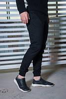 Мужские черные хлопковые штаны карго.