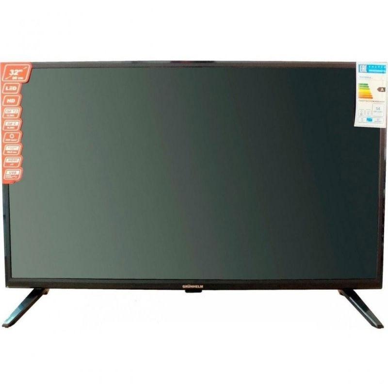 Телевізор 32 дюйма Grunhelm SMART GTV32S02T2 1366х768 HD (87905/87904)