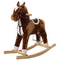 Музыкальная лошадка — качалка для ребенка 76х28х68 см