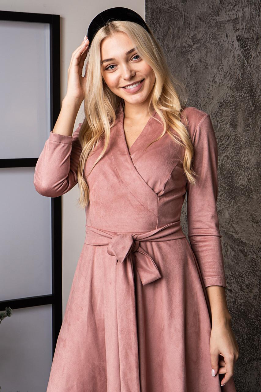 Платье  мод 736-2 размер 48 пудра