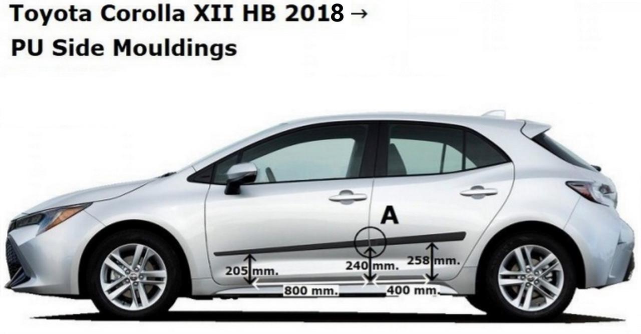 Toyota Corolla 5dr hatchback 2019+ молдинги на двери
