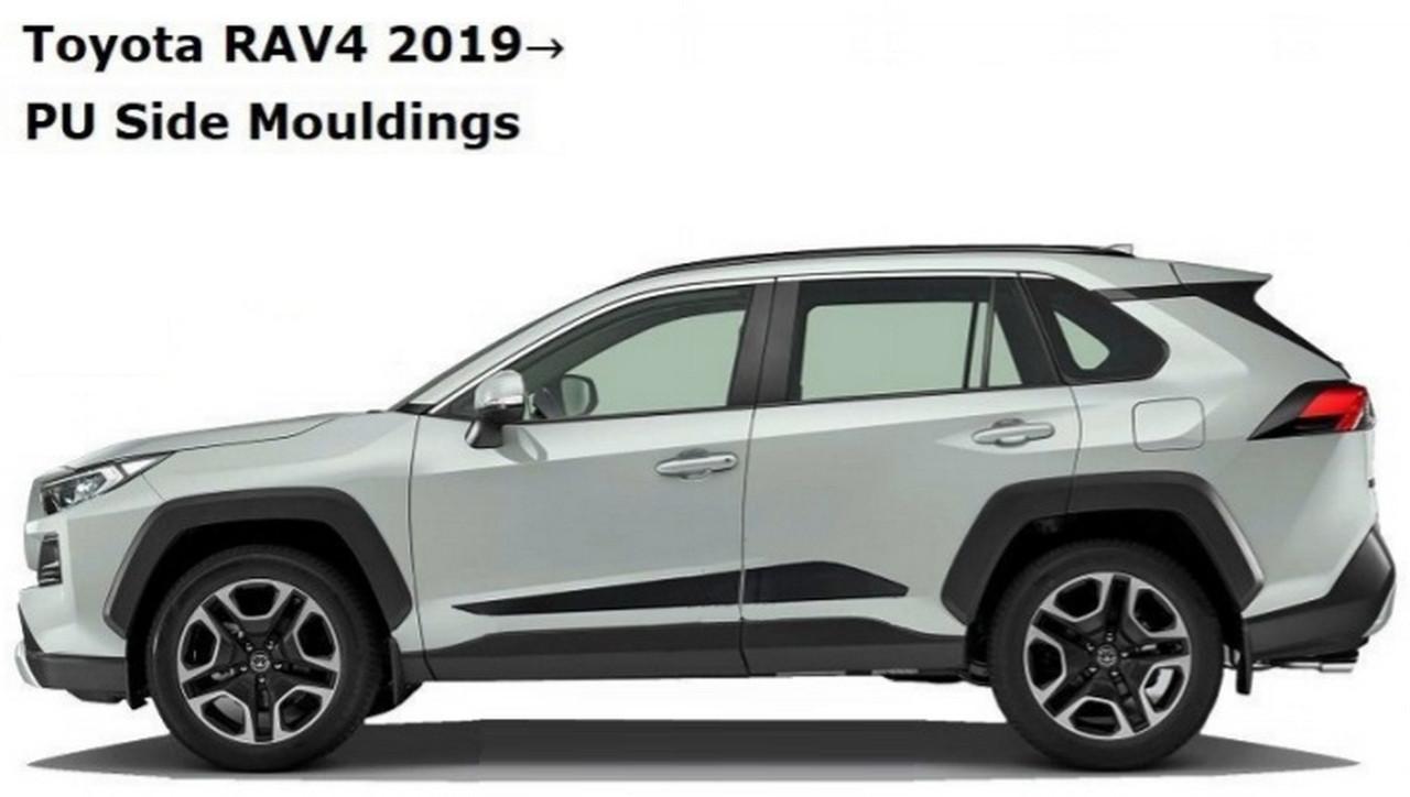 Toyota RAV-4 2018+ молдинги на двери