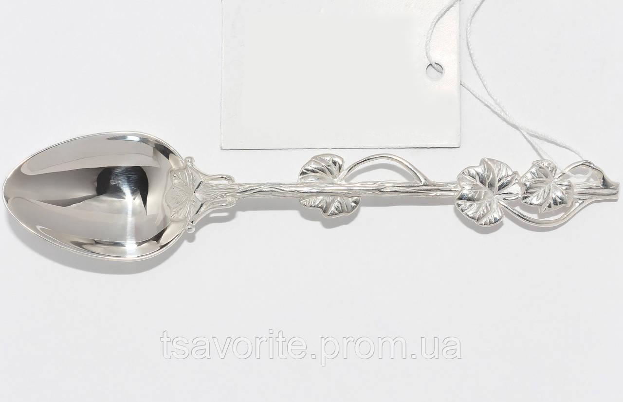 Серебряная ложка кофейная Л-26