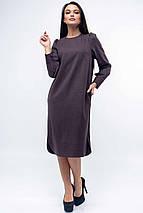 Женское однотонное платье с широким поясом (Джен ri), фото 2