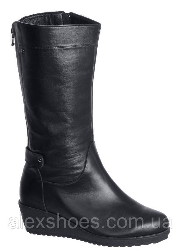 Сапоги женские зима большого размера на очень полную ногу из натуральной кожи от производителя модель АР469-2