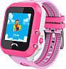 Умные GPS часы UWatch Baby DF27 водонепроницаемые  Розовые