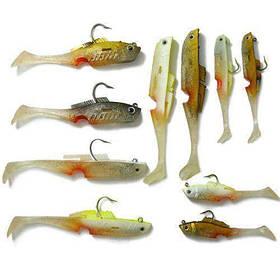 Набор наживок и силиконовых снастей Mighty Bite для хищника   рыболовные снасти силиконки