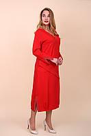 Нарядное красное платье 52 54 56 58