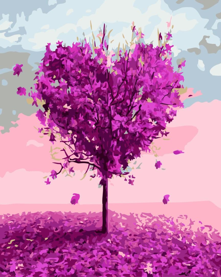 Картина по номерам Дерево любви 7460